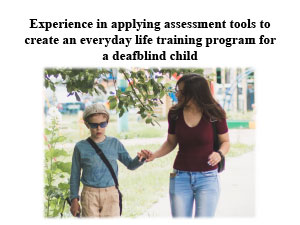Обложка Experience in applying assessment tools to create an everyday life training program for a deafblind child